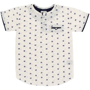 Camiseta Look Jeans Semi Alongada