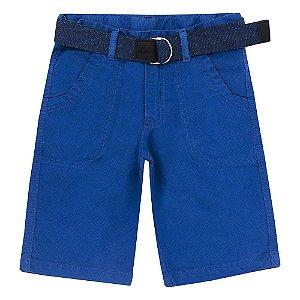 Bermuda Look Jeans c/ Cinto Collor