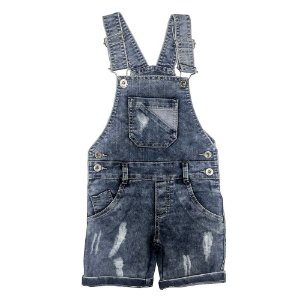 Jardineira Look Jeans Curta Jeans