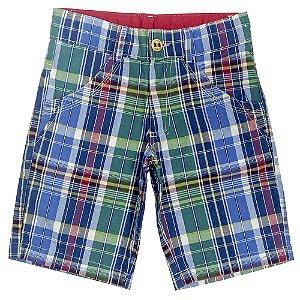 Bermuda Look Jeans Sarja Xadrez