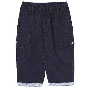 Calça Look Jeans Veludo Collor