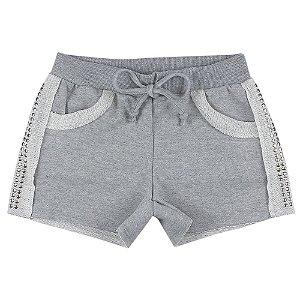Shorts Look Jeans Moletom Mescla