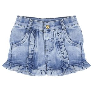 Shorts Look Jeans Babado Jeans