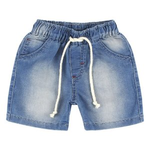 Shorts Look Jeans c/ Cordão Jeans