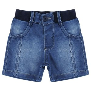Shorts Look Jeans c/ Punho Jeans