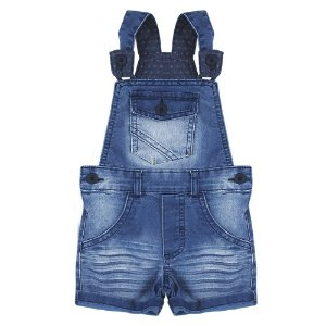 Jardineira Look Jeans c/ silk Jeans