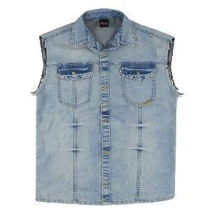 Camisa Look Jeans Colete Jeans
