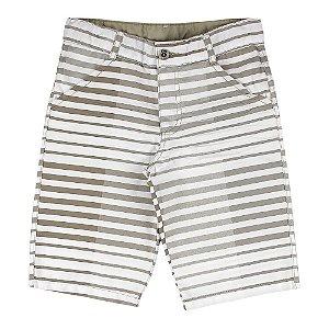 Bermuda Look Jeans Listrada Collor