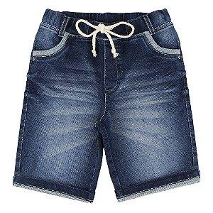 Bermuda Look Jeans Moletom Jeans
