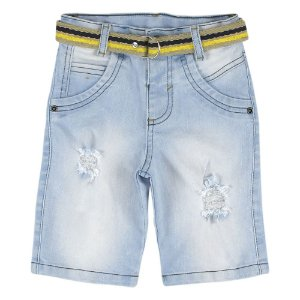 Shorts Look Jeans c/ Cinto Jeans