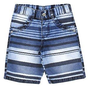 Shorts Look Jeans Listrado Jeans
