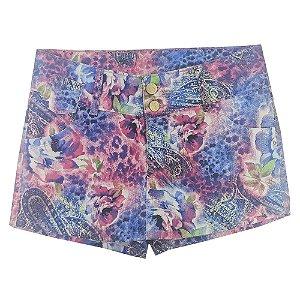 Shorts Look Jeans Saia Rosa