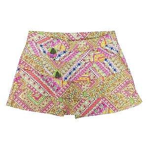 Shorts Look Jeans Saia Pink