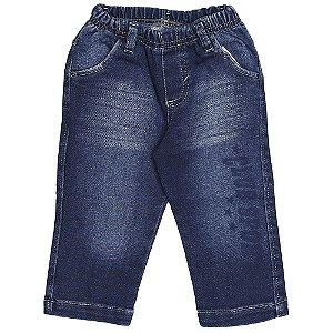 Calça Look Jeans Moletom Azul