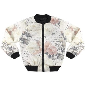 Jaqueta Look Jeans Bomber Off-White