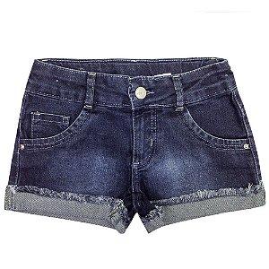 Shorts PopStar Barra Dobrada Jeans