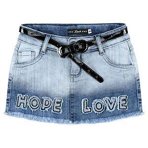Saia Look Jeans c/ Cinto Jeans