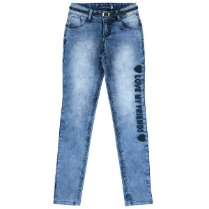 Calça Look Jeans Skinny c/ Cinto Jeans