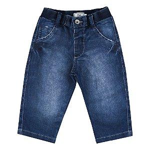 Calça Look Jeans c/ Punho Jeans
