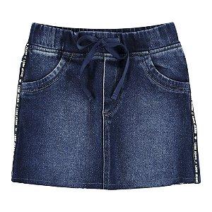 Saia Look Jeans Moletom Jeans