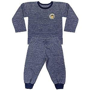 Pijama Look Jeans Menino Longo Marinho