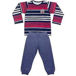 Pijama Look Jeans Menino Longo