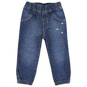 Calça Look Jeans Elástico Jeans