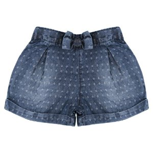 Shorts Look Jeans Maquinetado Jeans