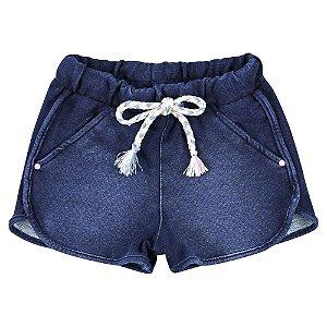 Shorts Look Jeans Malha Jeans