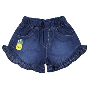 Shorts Look Jeans c/ Babado Jeans