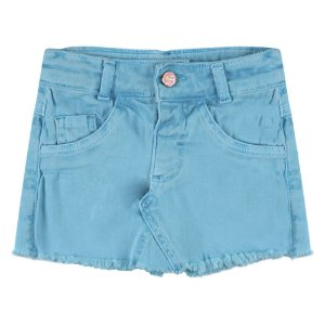 Shorts Saia Look Jeans Sarja Collor