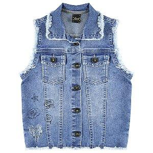 Colete Look Jeans c/ Silk Jeans