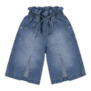 Calça Look Jeans Pantacourt Jeans