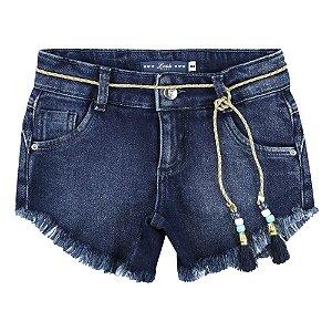 Shorts Look Jeans Moletom c/ Cinto Jeans
