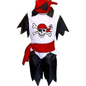 Fantasia 4 Cabeças Pirata Branco