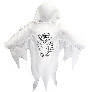 Fantasia 4 Cabeças Fantasma Branco
