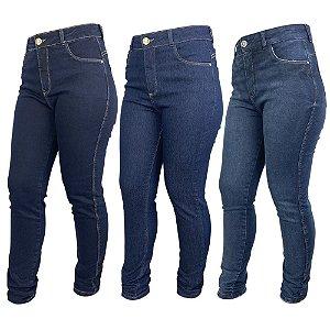 Kit Look Jeans c/ 3 Calça Jeans Skinny Feminina