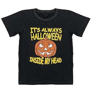 Camiseta Infantil Look Jeans Halloween Preta