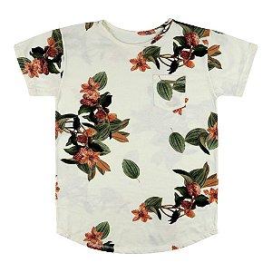 Camiseta Look Jeans Longline Floral