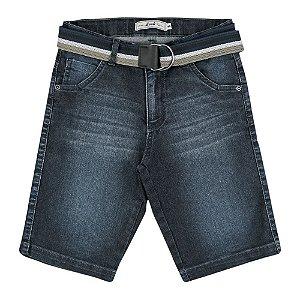 Bermuda Look Jeans c/ Cinto Jeans