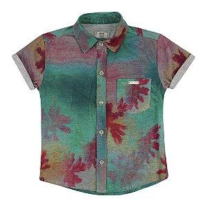 Camisa Look Jeans Malha Floral
