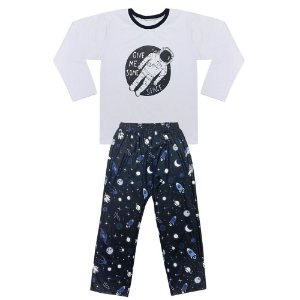 Pijama Juvenil Look Jeans Space Longo
