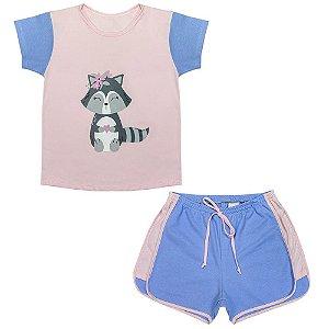 Pijama Juvenil Look Jeans Guaxinim Curto