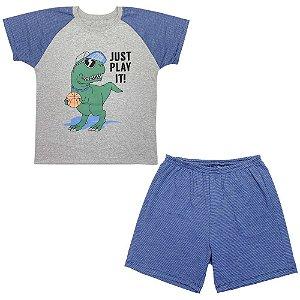 Pijama Juvenil Look Jeans Dino Curto