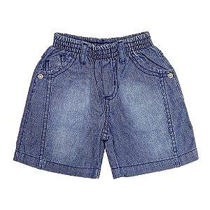 Shorts Look Jeans Básico Jeans