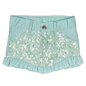 Shorts Look Jeans Saia Verde
