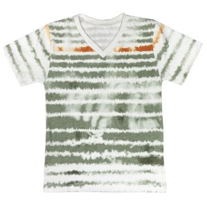 Camiseta Look Jeans Malha Tie-Dye Verde