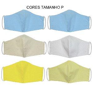 Kit 6 Máscaras Bico de Pato Infantil Tecido Liso