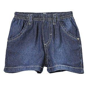 Shorts Bebê Look Jeans Básico Jeans