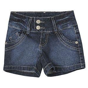 Shorts Juvenil Look Jeans Básico Jeans